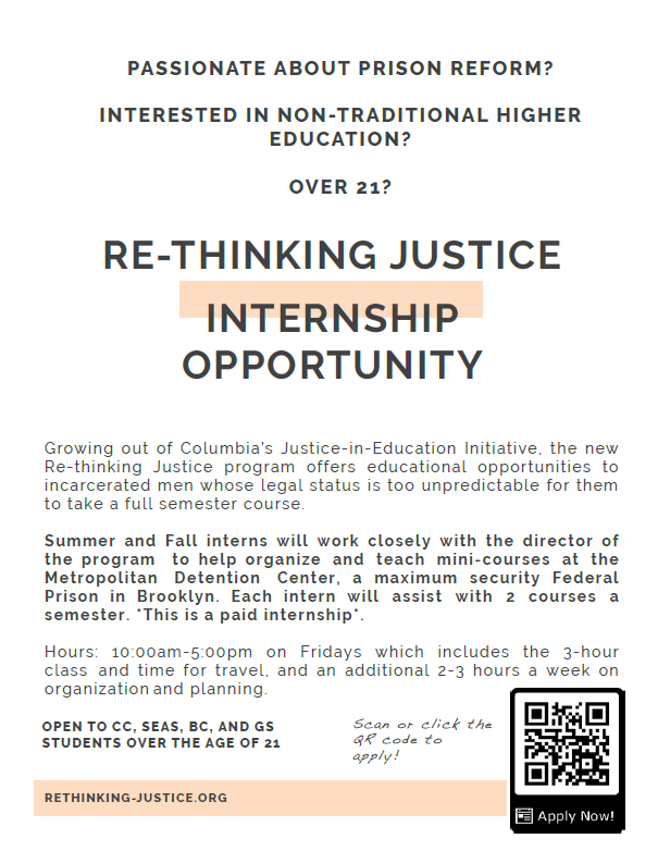 Rethinking justice flyer